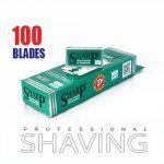 Sharp hi chromium double edge razor blades