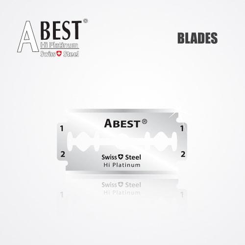 ABEST HI PLATINUM DOUBLE EDGE DURABLADE SWISS QUALITY RAZOR BLADES T5 B100 PCS 2