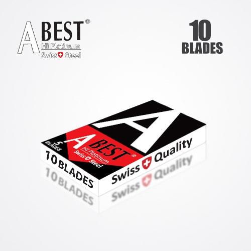 ABEST HI PLATINUM DOUBLE EDGE DURABLADE SWISS QUALITY RAZOR BLADES T10-B100 P10000 PCS 4