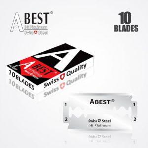 ABEST HI PLATINUM DOUBLE EDGE DURABLADE SWISS QUALITY RAZOR BLADES 10 PCS