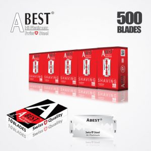 ABEST HI PLATINUM DOUBLE EDGE DURABLADE SWISS QUALITY RAZOR BLADES T10-B100 P500 PCS