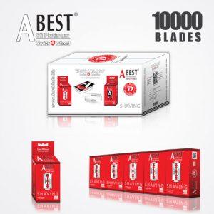 ABEST HI PLATINUM DOUBLE EDGE BLADES DURABLADE SWISS QUALITY RAZOR BLADES T10-B100 P10000 PCS