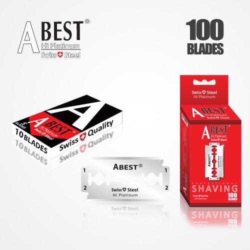 ABEST HI PLATINUM DOUBLE EDGE DURABLADE SWISS QUALITY RAZOR BLADES T10-B100 PCS 1