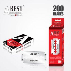ABEST HI PLATINUM DOUBLE EDGE BLADES DURABLADE SWISS QUALITY RAZOR BLADES T10-B200 PCS