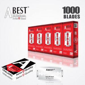 ABEST HI PLATINUM DOUBLE EDGE DURABLADE SWISS QUALITY RAZOR BLADES T10-B200 P1000 PCS
