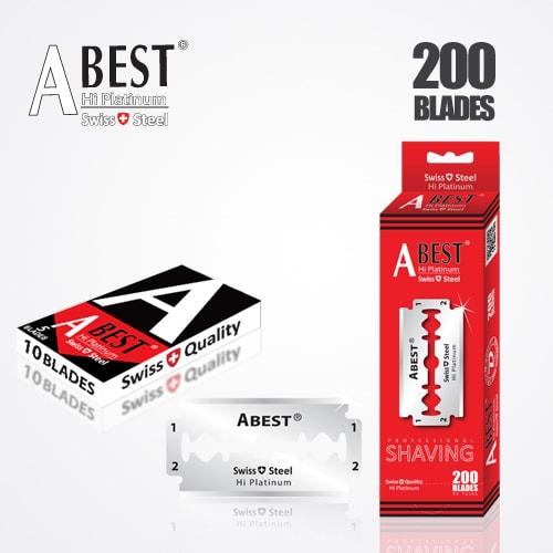 ABEST HI PLATINUM DOUBLE EDGE DURABLADE SWISS QUALITY RAZOR BLADES T10-B200 PCS 1