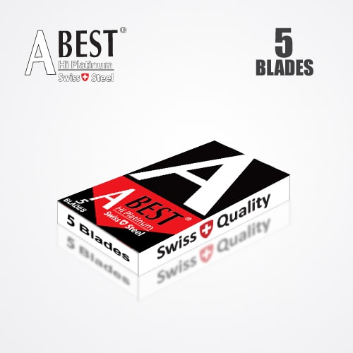 ABEST HI PLATINUM DOUBLE EDGE DURABLADE SWISS QUALITY RAZOR BLADES T5 B100 P500 PCS 4
