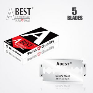 ABEST HI PLATINUM DOUBLE EDGE DURABLADE SWISS QUALITY RAZOR BLADES 5 PCS