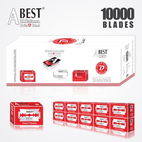 ABEST HI PLATINUM DOUBLE EDGE BLADES DURABLADE SWISS QUALITY RAZOR BLADES T5 B50 P10000 PCS 1