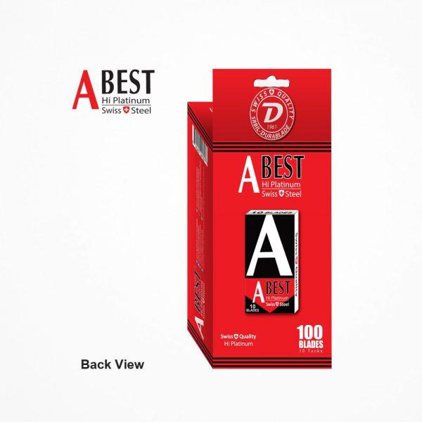 ABEST HI PLATINUM SWISS QUALITY DOUBLE EDGE SAFETY RAZOR BLADES (Red & Black) 100 BLADES 6