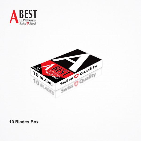 ABEST HI PLATINUM SWISS QUALITY DOUBLE EDGE SAFETY RAZOR BLADES (Red & Black) 100 BLADES 4