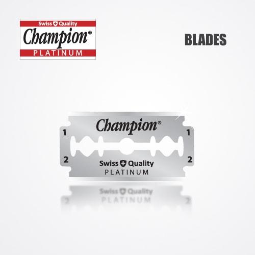 DURABLADE SWISS QUALITY CHAMPION PLATINUM DOUBLE EDGE RAZOR BLADES T10-B100 PCS 2