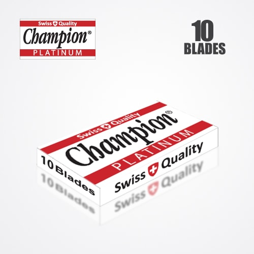 DURABLADE SWISS QUALITY CHAMPION PLATINUM DOUBLE EDGE RAZOR BLADES T10-B100 PCS 4