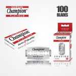 DURABLADE SWISS QUALITY CHAMPION PLATINUM DOUBLE EDGE RAZOR BLADES T10-B100 PCS 1