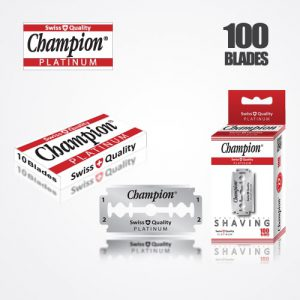 DURABLADE SWISS QUALITY CHAMPION PLATINUM DOUBLE EDGE RAZOR BLADES T10-B100 PCS