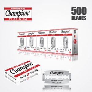 DURABLADE SWISS QUALITY CHAMPION PLATINUM DOUBLE EDGE RAZOR BLADES T10-B100-P500 PCS