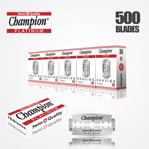 DURABLADE SWISS QUALITY CHAMPION PLATINUM DOUBLE EDGE RAZOR BLADES T10-B100-P500 PCS 1