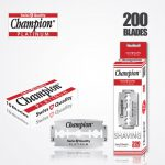 DURABLADE SWISS QUALITY CHAMPION PLATINUM DOUBLE EDGE RAZOR BLADES T10-B200 PCS 1