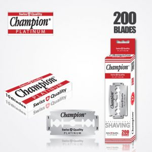 DURABLADE SWISS QUALITY CHAMPION PLATINUM DOUBLE EDGE RAZOR BLADES T10-B200 PCS