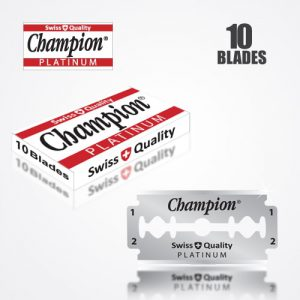 DURABLADE SWISS QUALITY CHAMPION PLATINUM DOUBLE EDGE RAZOR BLADES 10 PCS