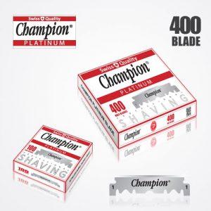 shaving blades DURABLADE SWISS QUALITY CHAMPION PLATINUM HALF BLADE B400