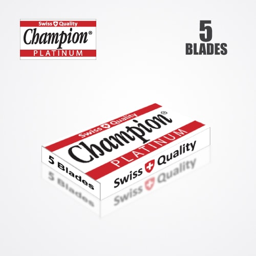DURABLADE SWISS QUALITY CHAMPION PLATINUM DOUBLE EDGE RAZOR BLADES T5-B100 PCS 4