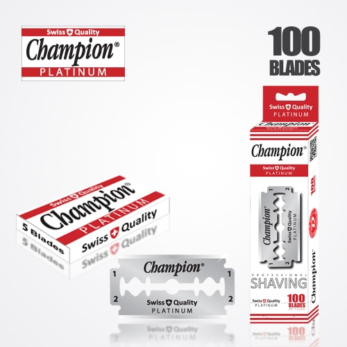 DURABLADE SWISS QUALITY CHAMPION PLATINUM DOUBLE EDGE RAZOR BLADES T5-B100 PCS 1