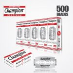 DURABLADE SWISS QUALITY CHAMPION PLATINUM DOUBLE EDGE RAZOR BLADES T5-B100 P500 PCS 1