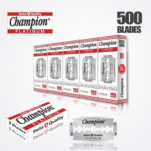 DURABLADE SWISS QUALITY CHAMPION PLATINUM DOUBLE EDGE RAZOR BLADES T5-B100 P500 PCS 1