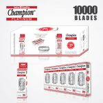DURABLADE SWISS QUALITY CHAMPION PLATINUM DOUBLE EDGE RAZOR BLADES T5-B100 P10000 PCS 1