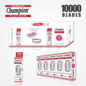 DURABLADE SWISS QUALITY CHAMPION PLATINUM DOUBLE EDGE RAZOR BLADES T5-B100 P10000 PCS