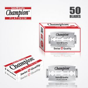 DURABLADE SWISS QUALITY CHAMPION PLATINUM DOUBLE EDGE RAZOR BLADES T5-50 PCS