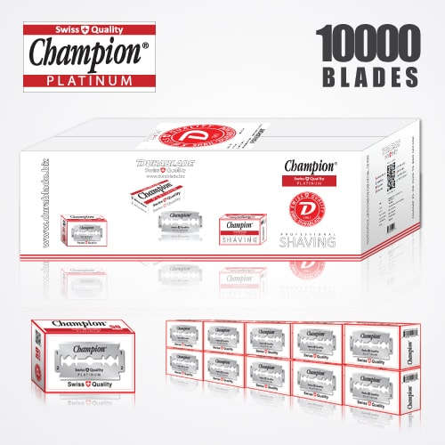 DURABLADE SWISS QUALITY CHAMPION PLATINUM DOUBLE EDGE RAZOR BLADES 10,000 PCS 1