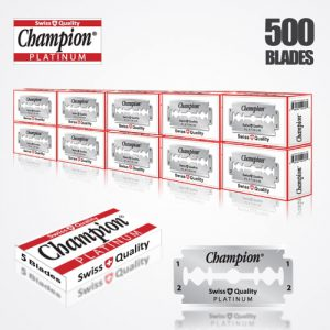 DURABLADE SWISS QUALITY CHAMPION PLATINUM DOUBLE EDGE RAZOR BLADES 500 PCS