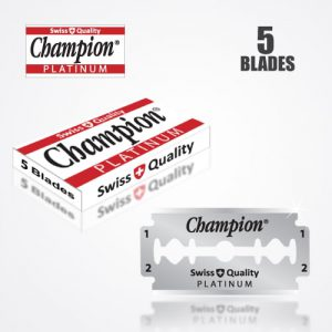 DURABLADE SWISS QUALITY CHAMPION PLATINUM DOUBLE EDGE RAZOR BLADES 5 PCS