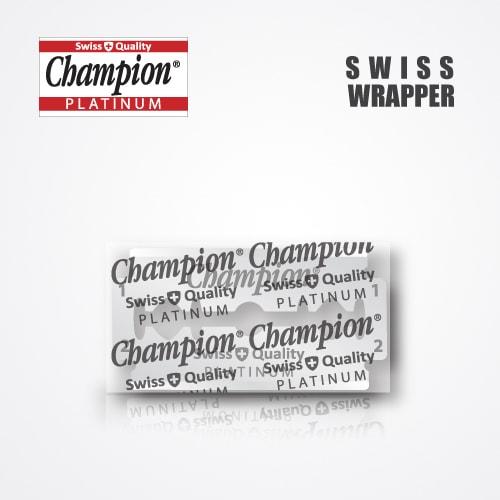 DURABLADE SWISS QUALITY CHAMPION PLATINUM DOUBLE EDGE RAZOR BLADES T5-B100 P10000 PCS 3