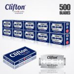 CLIFTON CLASSIC DOUBLE EDGE DURABLADE SWISS QUALITY RAZOR BLADES T5 B50 P500 PCS 1