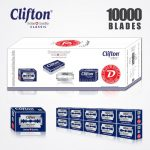 CLIFTON CLASSIC DOUBLE EDGE DURABLADE SWISS QUALITY RAZOR BLADES T5 B50 P10000 PCS 1