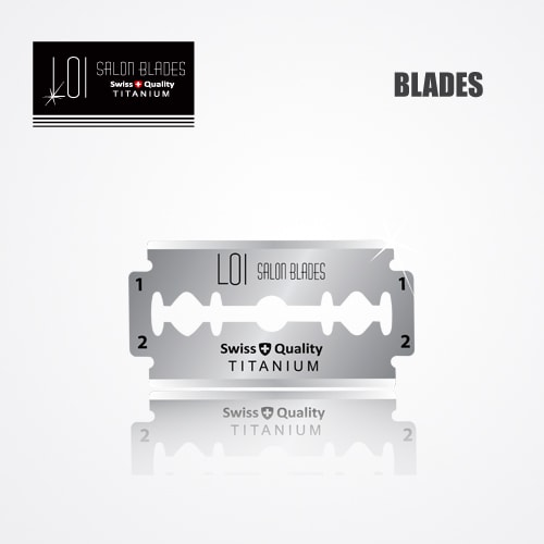 LOI TITANIUM DOUBLE EDGE DURABLADE SWISS QUALITY RAZOR BLADES T10-B100 PCS 2