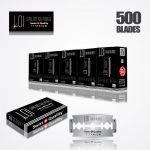 LOI TITANIUM DOUBLE EDGE DURABLADE SWISS QUALITY RAZOR BLADES T10-B100 P500 PCS 1