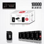 LOI TITANIUM DOUBLE EDGE DURABLADE SWISS QUALITY RAZOR BLADES T10-B100 P10000 PCS 1