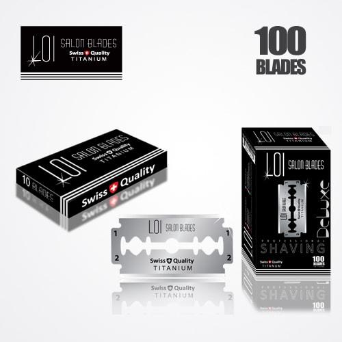 LOI TITANIUM DOUBLE EDGE DURABLADE SWISS QUALITY RAZOR BLADES T10-B100 PCS 1