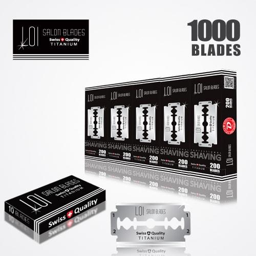 LOI TITANIUM DOUBLE EDGE DURABLADE SWISS QUALITY RAZOR BLADES T10-B200 P1000 PCS 1