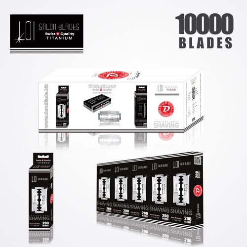 LOI TITANIUM DOUBLE EDGE DURABLADE SWISS QUALITY RAZOR BLADES T10-B200 P10000 PCS 1