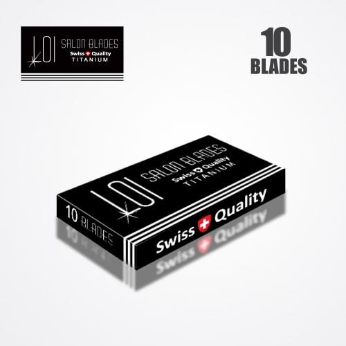LOI TITANIUM DOUBLE EDGE DURABLADE SWISS QUALITY RAZOR BLADES T10-B100 P10000 PCS 4