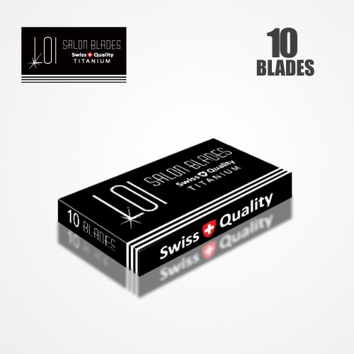 LOI TITANIUM DOUBLE EDGE DURABLADE SWISS QUALITY RAZOR BLADES T10-B200 PCS 4