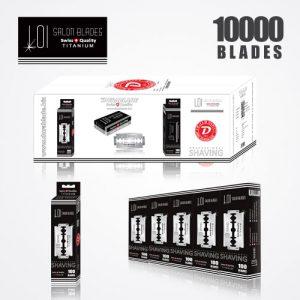 LOI TITANIUM DOUBLE EDGE DURABLADE SWISS QUALITY RAZOR BLADES T5 B100 P 10000 PCS