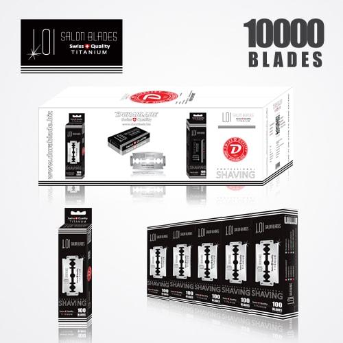 LOI TITANIUM DOUBLE EDGE DURABLADE SWISS QUALITY RAZOR BLADES T5 B100 P 10000 PCS 1