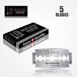LOI TITANIUM DOUBLE EDGE DURABLADE SWISS QUALITY RAZOR BLADES 5 PCS 1