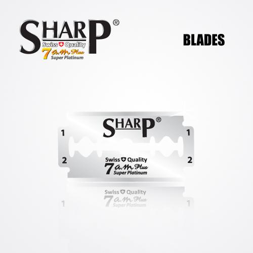 SHARP 7AM SUPER PLATINUM DOUBLE EDGE DURABLADE SWISS QUALITY RAZOR BLADES – T10 B100 PCS 2